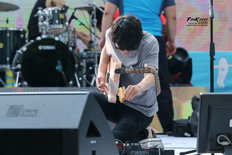 Jung Joon Young Band in Gwangju World Youth Festival July 2015