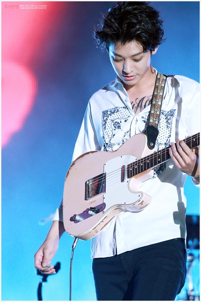 Jung Joon Young at summer kpop festival Aug 2015