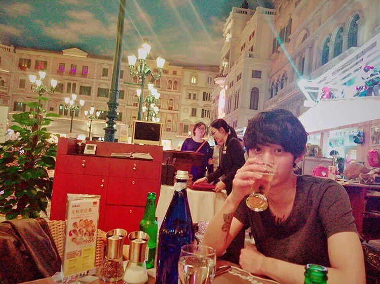 Jung Joon Young enjoying in Macau on March 2016