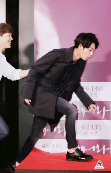 Jung Joon young at VIP Premier movie Love Lies of Han Hyo Joo on April 2016