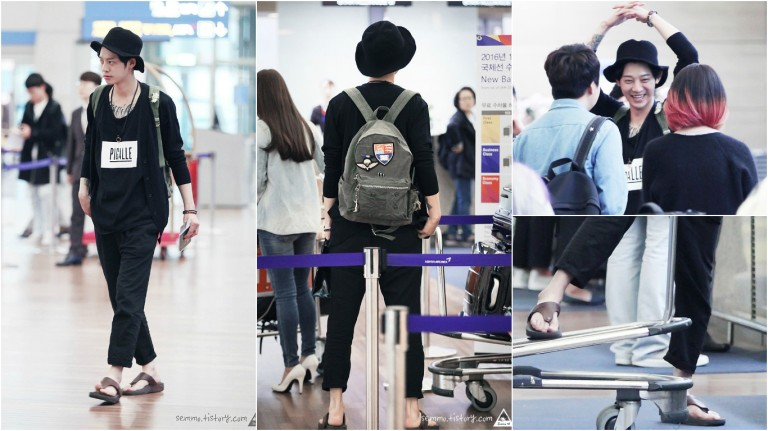 Jung Joon Young at Incheon airport coming to Vietnam for Spark Concert April 2016