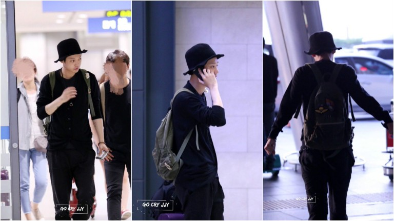 Jung Joon Young coming back to Seoul after Spark Concert in Hanoi on April 17 2016