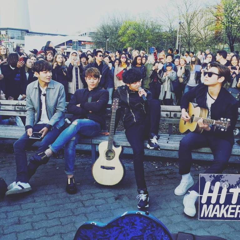 Jung Joon Young comfortably singing in Berlin for shooting Hit Maker