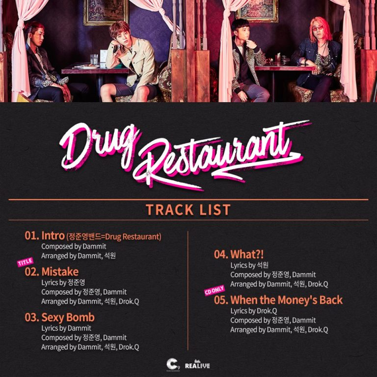 Tracklist of Drug Restaurant single album