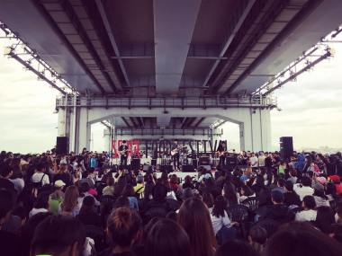 Jung Joon Young Band perfoming at Seoul Food Festival on May 5, 2016