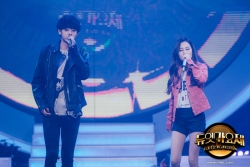 Jung Joon Young covering Insomnia with rapper E.Luni at MBC Duet Song Festival on April 2016