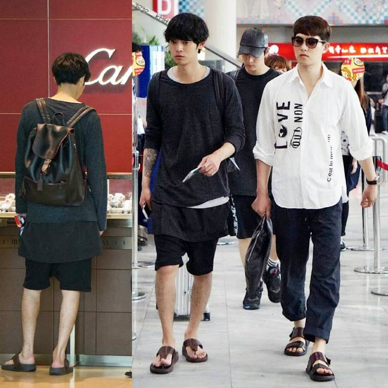Jung Joon Young with his multi-layer airport style leaving Macau after filming on May 2016