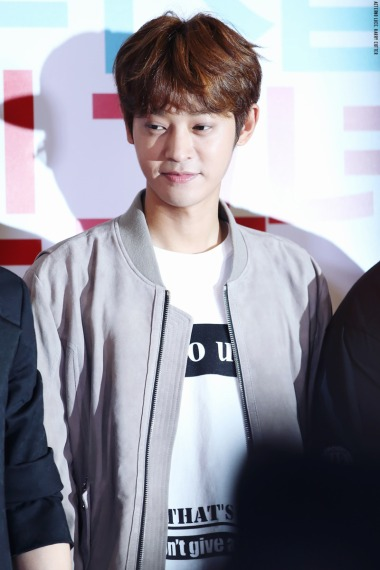 Jung Joon Young smiling at VIP premiere of My Sassy Girl 2