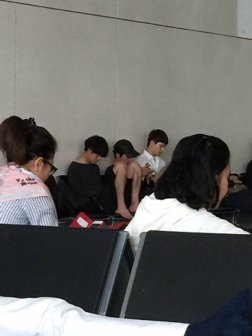 Jung Joon Young at Macau airport after filming on May 2016