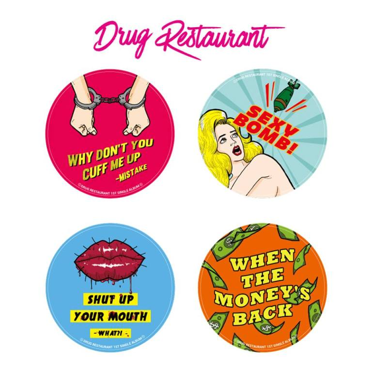 sticker drug restaurant on Dont Panic Seoul