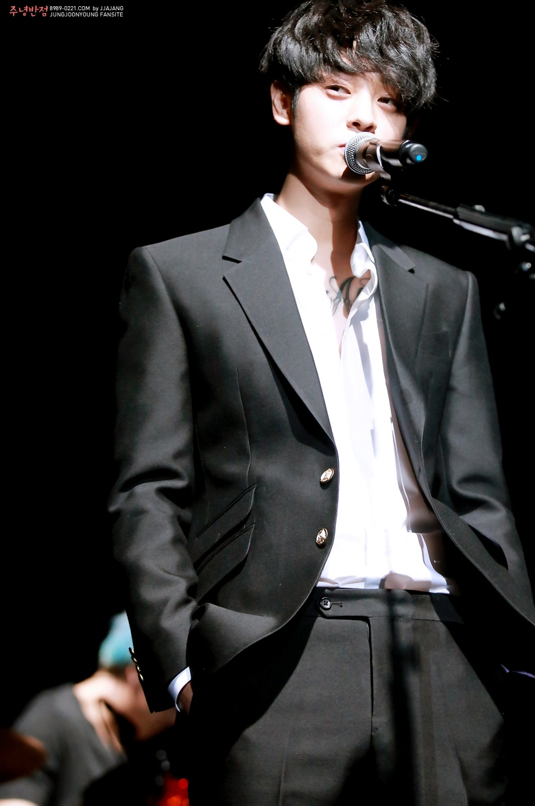 Jung Joon Young at his band concert Live in Seoul on Feb 21, 2016