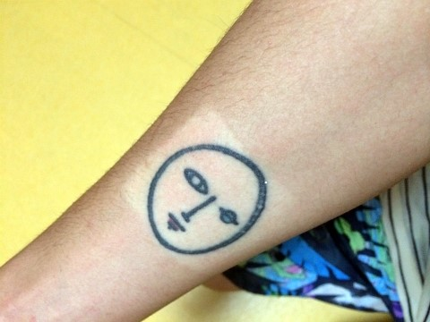 Hedwig tattoo on Jung Joon Young's right arm