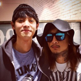 Jung Joon Young with tattoo artist Kang Ji Min 2015