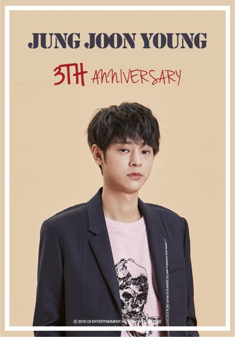 C9 Entertainment celebrating Jung Joon Young debut 3rd anniversary 20161010