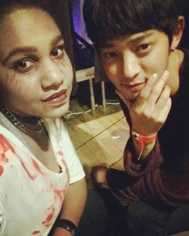 Jung Joon Young at backstage of Halloween Edition - Kpop Party in Paris on Oct 22 2016