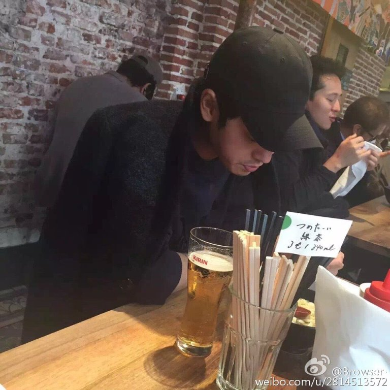 Jung Joon Young in a restaurant in Paris on November 2016