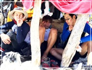 Jung Joon Young with Hwang Chi Yeol and Yang Yo Seob in Law of the Jungle in Timor Leste