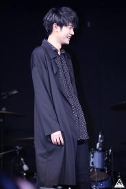 Jung Joon Young smiling at Sympathy showcase on Feb 24, 2016