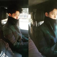 Jung Joon Young with his friends going to Kim Jae Joong's concert in Seoul on January 2017