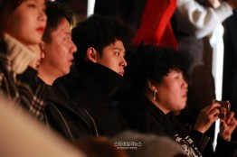 Jung Joon Young with friends at Kim Jae Joong's concert in Seoul on Feb 22, 2017