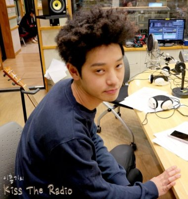 Jung Joon Young promoting his new solo album The First Person at Lee Hong Ki's Kiss the Radio on Feb 8, 2017