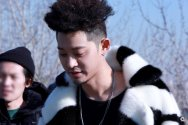 Jung Joon Young with his unique pineapple hairstyle at solo album jacket shooting in 2017