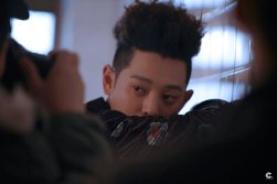 Jung Joon Young's unique hairdo focus on his album jacket shooting day on Jan 2017