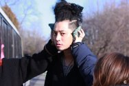 Jung Joon Young's strange hairstyle on his album jacket shooting day on Jan 2017
