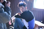 Jung Joon Young posing at solo album jacket shooting in 2017