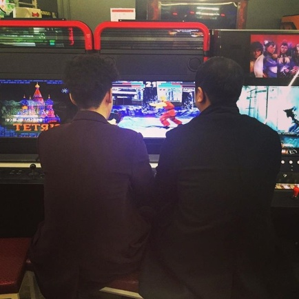 Jung Joon Young playing game with his friend on Jan 2017