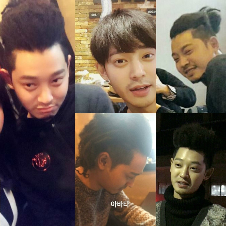 Jung Joon Young with his unique haircut in late December 2016