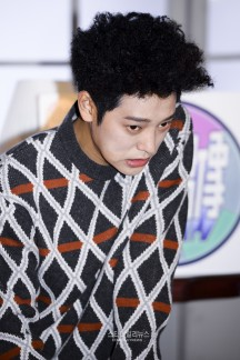 Jung Joon Young with his 'bomb hairdo' at show Idols of Asia on MTV Taiwan 2017