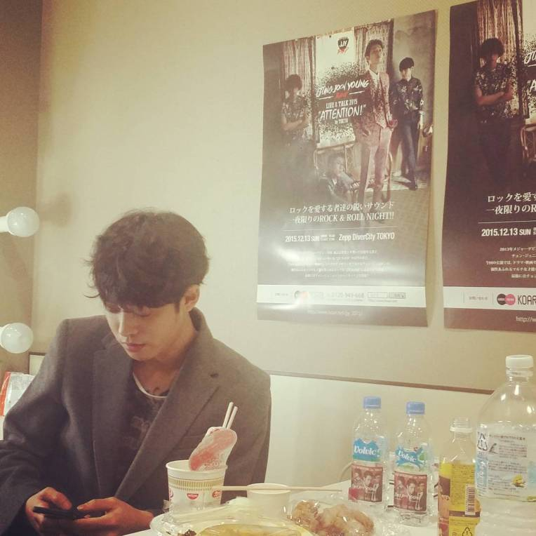 Jung Joon Young Band live concert in Tokyo in 2015