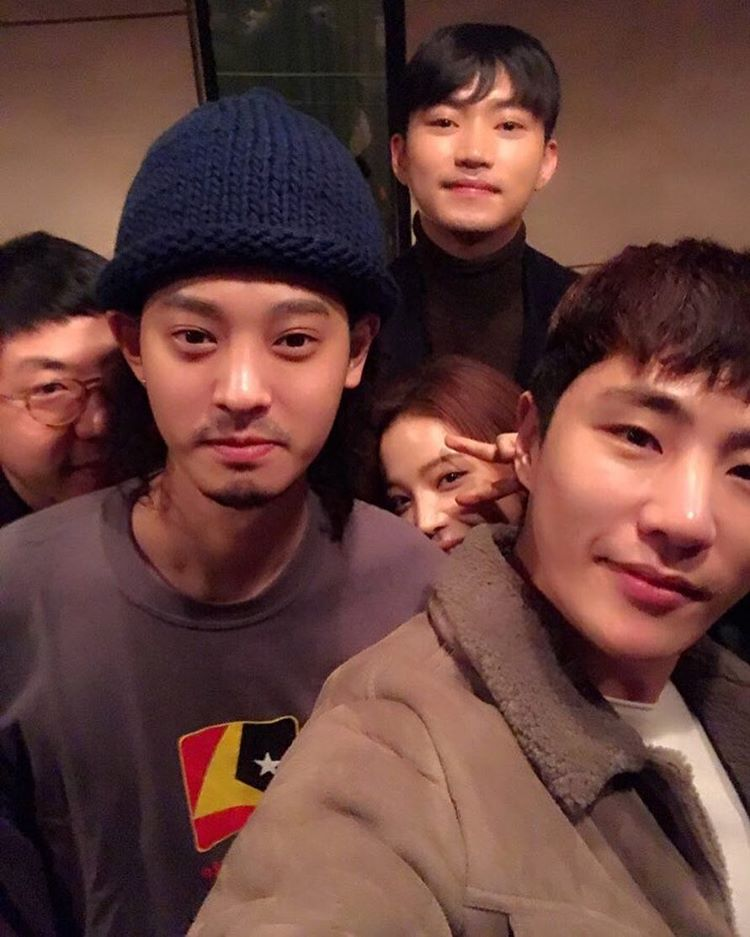 Jung Joon Young with his friends on December 2016