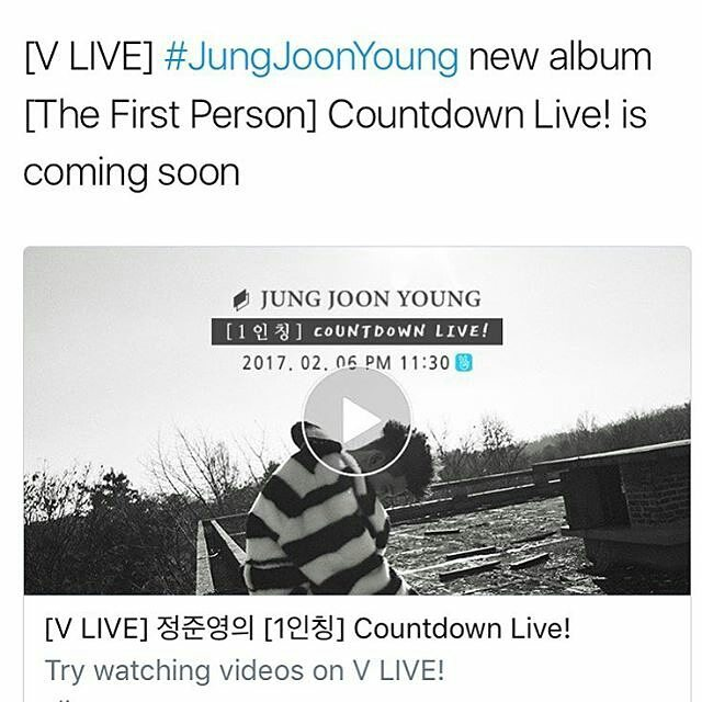 Jung Joon Young [The First Person] Countdown Live!