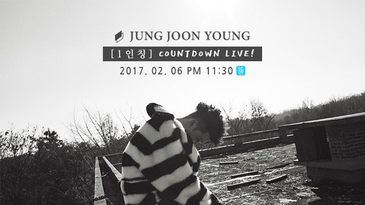 Jung Joon Youngnew album Countdown Live on V-app on Feb 6 2017