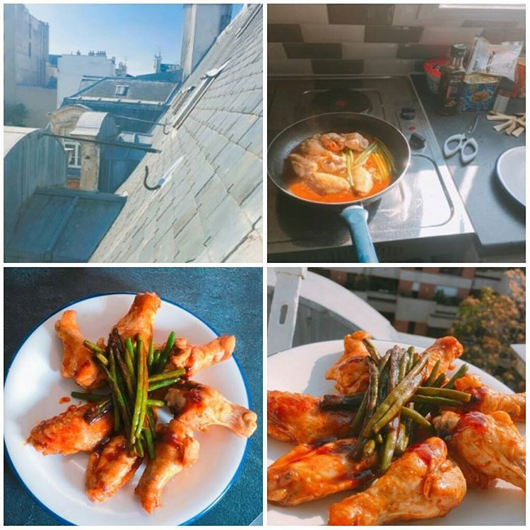 Jung Joon Young updating his blog with Spicy Chicken post in 2017