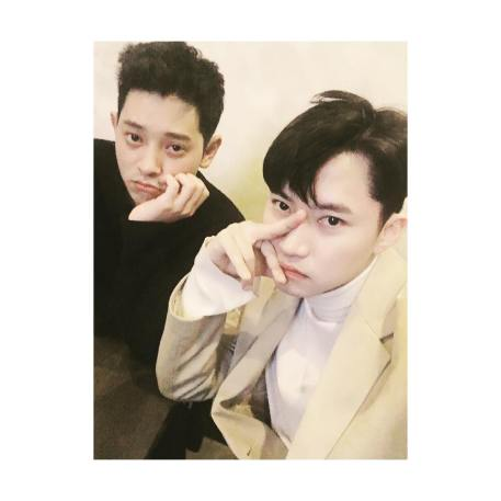 Jung Joon Young with one of his best friends at solo concert in Seoul 20170225