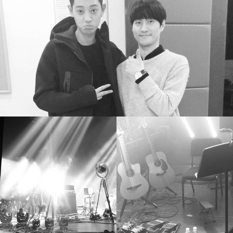 jung joon young and guitarist park min young at his concert on Feb 25 2017
