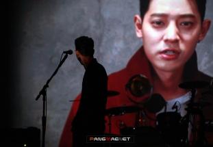 VCR trên sân khấu live concert in Seoul tối 25/2   ảnh: Pangmaenet