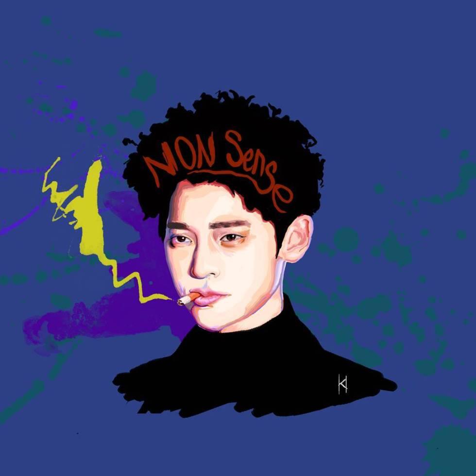 Jung Joon Young artwork from nonsense.ke_lin