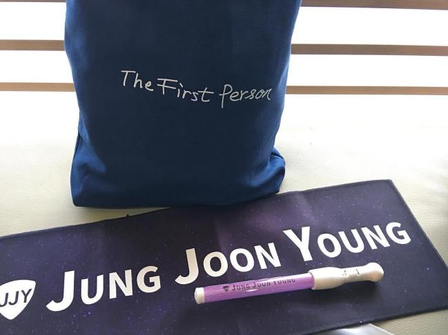 Jung Joon Young's official goods at his concert in 2017