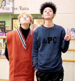 jung joon young guesting on Hong Ki's Kiss the radio 20170208