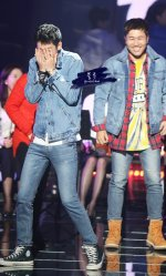 2 days 1 night couple jung joon young with kim jong min in Immortal songs recording 20170327