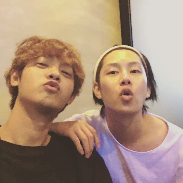 jung joon young and kim hee chul meeting at JJY's restaurant 2016