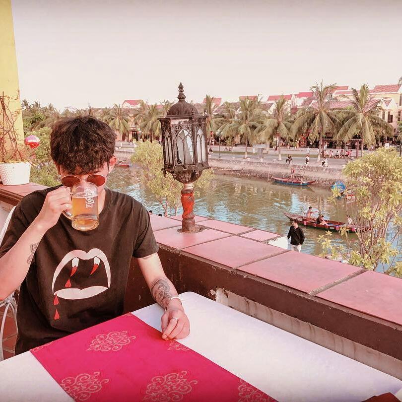 Jung Joon Young at a riverside in Hoian, Vietnam summer 2017