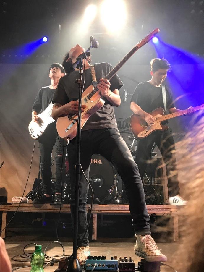 Band Drug Restaurant performing at concert in Cologne, Germany on Sept 23, 2017